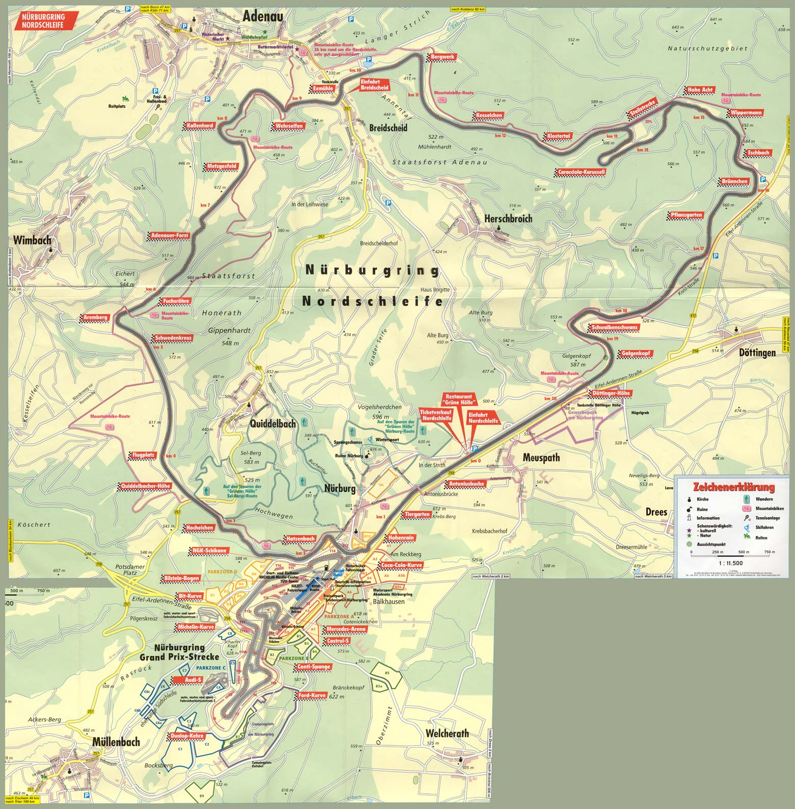 M Driving School - Germany map nurburgring